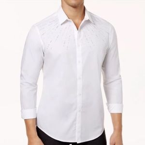 I.N.C. Men's Beaded Button-Up Shirt
